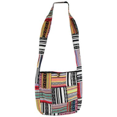 Colourful Patchwork Woven Bag