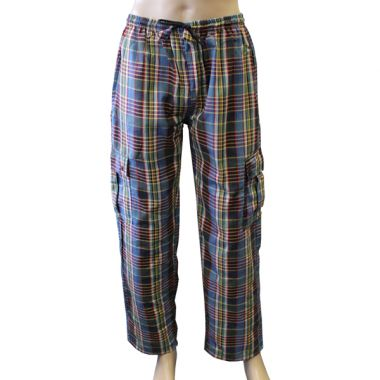 Martell Chequered Combat Trousers