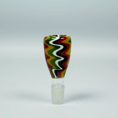 Trippy Zigzag Glass Bong Replacement Bowl - 14mm