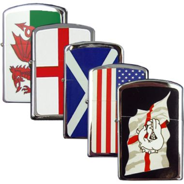 Flag Design Petrol Lighter