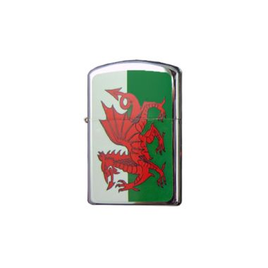 Flag Design Petrol Lighter - Welsh Flag