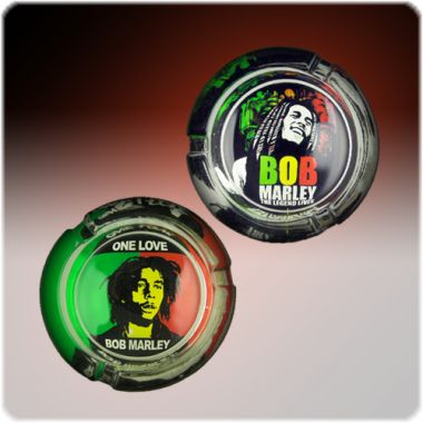 The Bob Marley Collection Glass Ashtrays