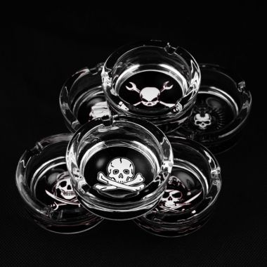 The Skull Collection Glass Ashtrays